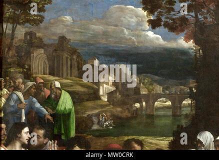 . English: File:Sebastiano del Piombo, The Raising of Lazarus.jpg, cropped and lightened. 1519. Sebastiano del Piombo, Died 1547 549 Sebastiano del Piombo, The Raising of Lazarus (cropped4) - Stock Photo