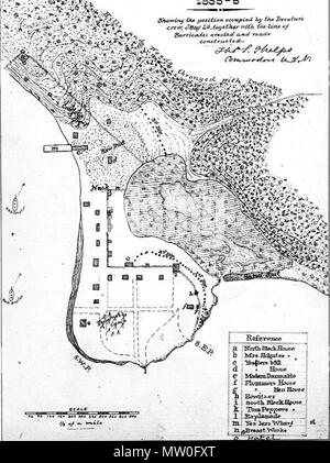 English: A map of Seattle, drawn at the time of the Battle of ...