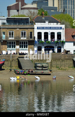 Hammersmith riverfront, London, United Kingdom - Stock Photo