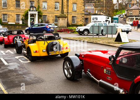 A group of Westfield Sport Cars seen in a line in the Derbyshire town of Bakewell - Stock Photo