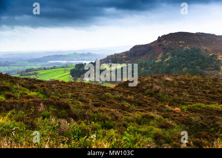 The rolling hills of Derbyshire
