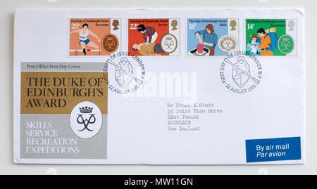 1981 First Day Cover Stamp GB Duke of Edingburghs Award - Stock Photo