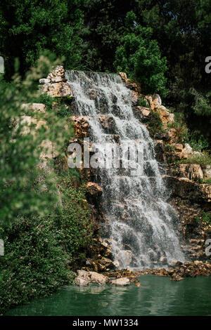 Waterfall in Italy apilia fasano zoopark - Stock Photo