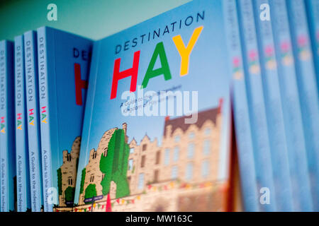 Wednesday  30 May 2018  Pictured: Destination Hay books in the hay bookshop  Re: The 2018 Hay festival take place at Hay on Wye, Powys, Wales - Stock Photo