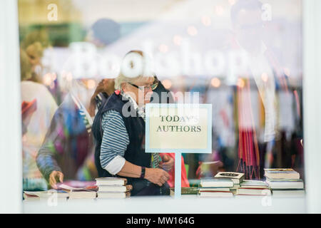 Wednesday  30 May 2018  Pictured: Today's authors at the festival  Re: The 2018 Hay festival take place at Hay on Wye, Powys, Wales - Stock Photo