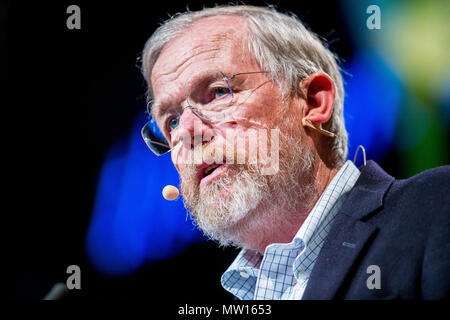 Wednesday  30 May 2018  Pictured: Author Bill Bryson  Re: The 2018 Hay festival take place at Hay on Wye, Powys, Wales - Stock Photo