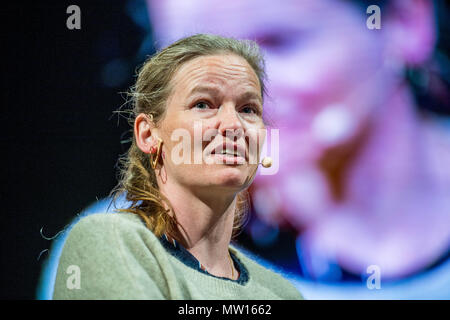Wednesday  30 May 2018  Pictured:  Rikke Schmidt Kjaergaard Re: The 2018 Hay festival take place at Hay on Wye, Powys, Wales - Stock Photo