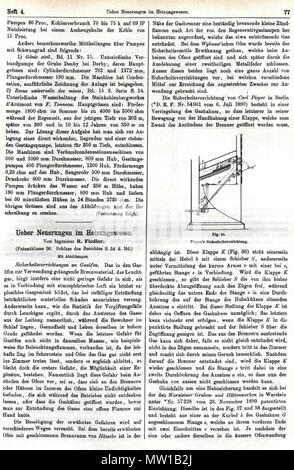 508 R. Fiedler, Ueber Neuerungen im Heizungswesen. In, C. Engler, A. Hollenberg u. H. Kast (Hrsgg.), Dinglers Polytechnisches Journal, 74. Jg., 288. Bd, Heft 4, Stuttgart 28. April 1893, J.G. Gotta'schen Buchhandlg, S. 77 - Stock Photo