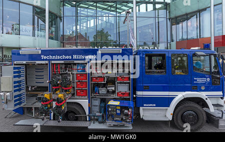 Einsatzwagen, technical relief organization, civil protection and disaster control organization, Germany - Stock Photo