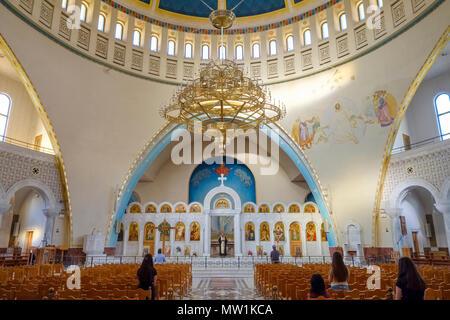 Interior view, Orthodox Resurrection Cathedral, Cathedral of Christ's Resurrection, Katedralja e Ringjalljës së Krishtit - Stock Photo