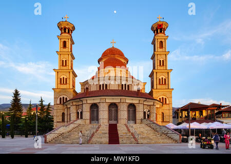 Orthodox Resurrection Cathedral, Korca, Korça, Albania - Stock Photo