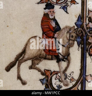 . English: The Franklin in the Ellesmere manuscript of Geoffrey Chaucer's Canterbury Tales. 12 October 2013, 17:58:44. Anonymous 595 The Franklin - Ellesmere Chaucer - Stock Photo