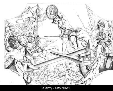 . Italiano: opera di F. Zanotto su quadro del Tintoretto . 26 July 2014, 13:13:19. f. zanotto 635 Vittoria sul lago di garda dell'Armata Veneziana contro i viscontei - Stock Photo