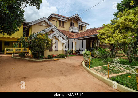 Galle, Sri Lanka - Sep 8, 2015. A rural house at countryside in Galle, Sri Lanka. - Stock Photo