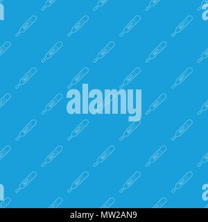 Medical thermometer pattern vector seamless blue - Stock Photo