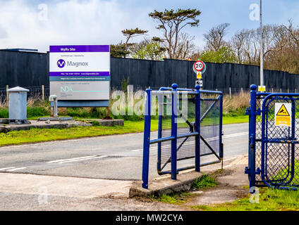CEMAES, ANGLESEY / WALES - APRIL 23 2018 : The new nuclear power station is getting ready for production. - Stock Photo