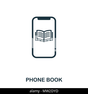 Phone Book icon. Flat style icon design. UI. Illustration of phone book icon. Pictogram isolated on white. Ready to use in web design, apps, software, - Stock Photo