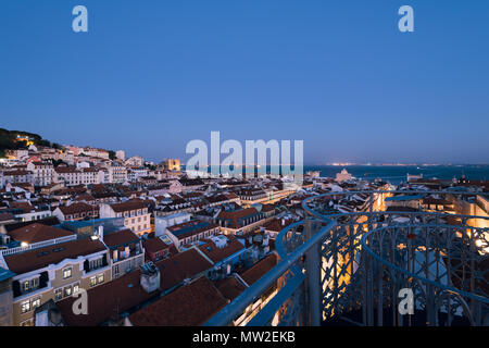 Lisbon, Portugal - May 03, 2018: Elevated view of Lisbon skyline. - Stock Photo
