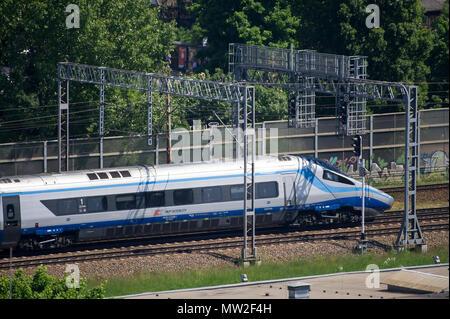 Pendolino high speed train in Gdansk, Poland. May 28th 2018 © Wojciech Strozyk / Alamy Stock Photo - Stock Photo