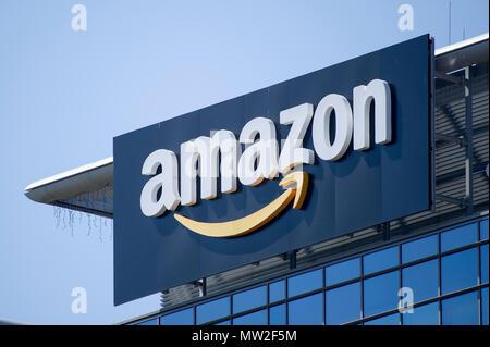 Amazon office building in Gdansk, Poland. May 28th 2018 © Wojciech Strozyk / Alamy Stock Photo - Stock Photo