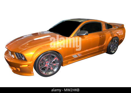Side view of a Ford Mustang. Many more car photos available in my gallery. - Stock Photo
