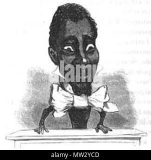 . Français: Caricature de Louisy Mathieu (1817-1874) par Cham. 1850. Cham (Amédée de Noé) 379 Louisy Mathieu par Cham - Stock Photo