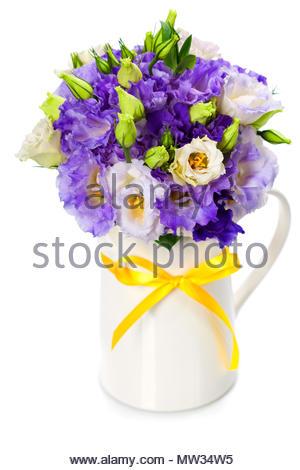 Beautiful eustoma flowers  bouquet - Stock Photo