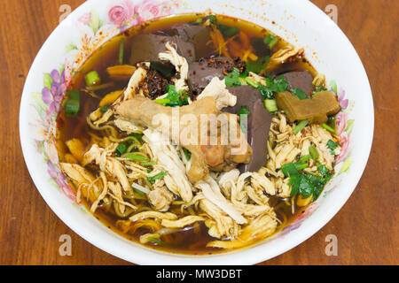 Braised chicken noodle soup thai style - Stock Photo