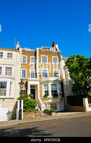 A charming period property in Victoria Road, Kensington, West London, England, UK - Stock Photo