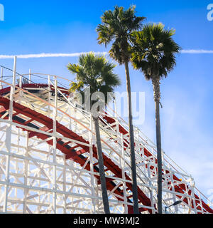 santa cruz roller coaster - Stock Photo