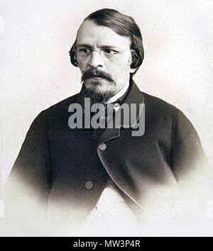 . English: Photo of Mikhail Dostoyevsky (1820-1864), publisher, writer and translator. Unknown date, c. 19 century. Unknown 416 Mikhail Dostoyevsky - Stock Photo