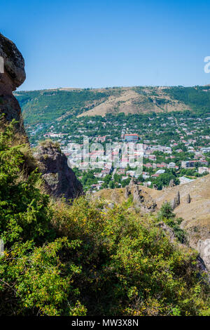Old Goris town, Armenia with the unique stone formations - Stock Photo