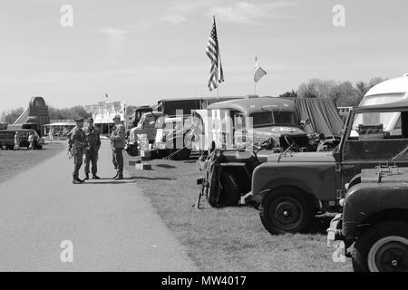 Military Vehicles Show at Llandudno, Wales - Stock Photo