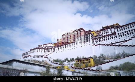 Potala palace, Lhasa, Tibet, China - Stock Photo