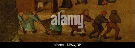 . English: Pieter Bruegel The Children's games: detail Nederlands: Pieter Bruegel De kinderspelen: detail hek Deutsch: Die Kinderspiele, Detail . 15 April 2013, 16:51:42. Pieter Breughel de Oude 483 Pieter Breughel de Oude nalopertje - Stock Photo