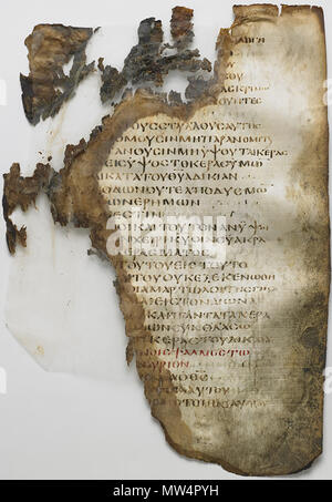 . English: Ink on parchment H: 35.5 W: 28.0 cm Egypt early 5th century Psalm 74:2-75:3a . 5 May 2014, 11:23:20. Freer Gallery of Art 642 Washington Manuscript II - The Psalms (Codex Washingtonensis) - Stock Photo