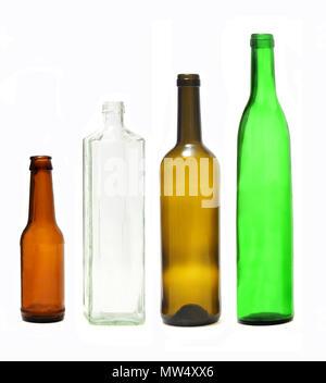 bottles on white - Stock Photo