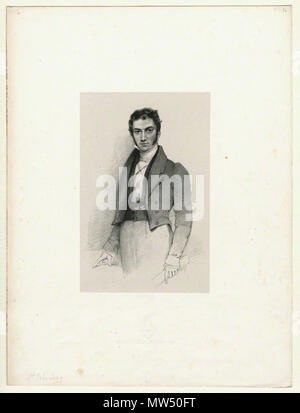 . English: Lithograph by Richard James Lane, circa 1825–1834. 1825. Richard James Lane, died 1872 572 St.-John-Long-portrait-by-Lane - Stock Photo