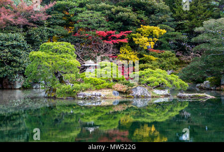 Japan ,  Kyoto City, Imperial Palace Gardens - Stock Photo