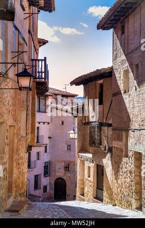 Spain, Aragon , Teruel Province, Albarracin City - Stock Photo