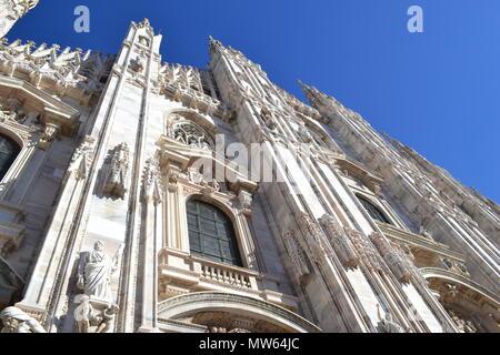 Metropolitan Cathedral-Basilica of the Nativity of Saint Mary Milan Italy - Stock Photo
