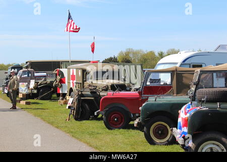 Military Vehicles Show at Llandudno, Wales - Stock Photo