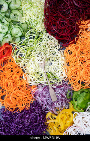 Spiralized Vegetables Pattern - Stock Photo