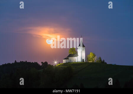 Jamnik is a settlement on the eastern slopes of the Jelovica Plateau in the Municipality of Kranj in the Upper Carniola region of Slovenia. The local  - Stock Photo