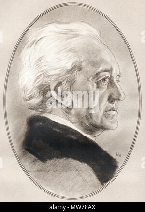 Johann Wolfgang von Goethe, 1749 – 1832.  German writer and statesman.  Illustration by Gordon Ross, American artist and illustrator (1873-1946), from Living Biographies of Famous Men. - Stock Photo