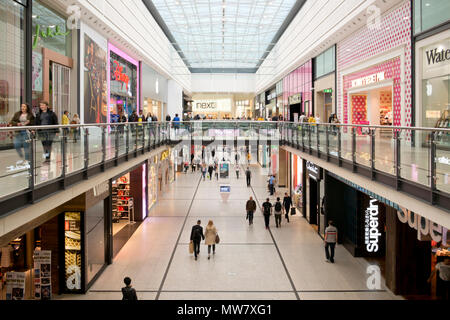 Internal view of Manchester Arndale. - Stock Photo