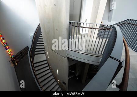 Modern architecture inside the McManus art gallery and museum in Dundee, Tayside, Scotland, UK - Stock Photo