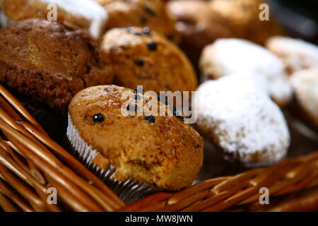 Close up of freshly baked homemade muffins - Stock Photo