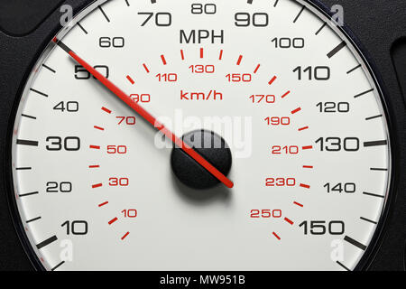 speedometer at 50 MPH - Stock Photo