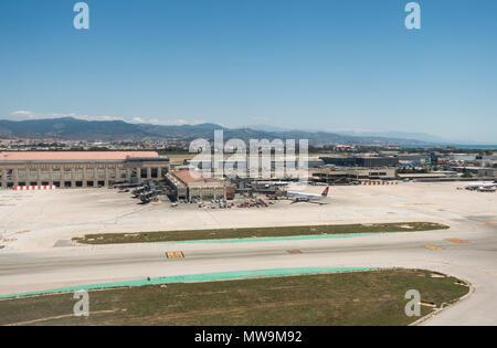 Airport of Malaga, Costa del Sol, Spain. - Stock Photo